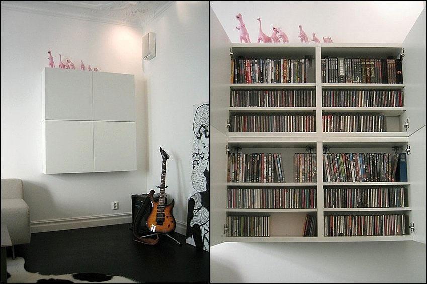 White DVD Shelving Furniture Design