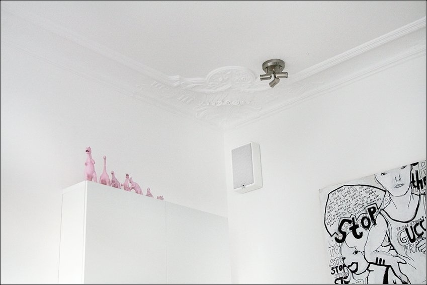 White Gypsum Ceiling Decorations