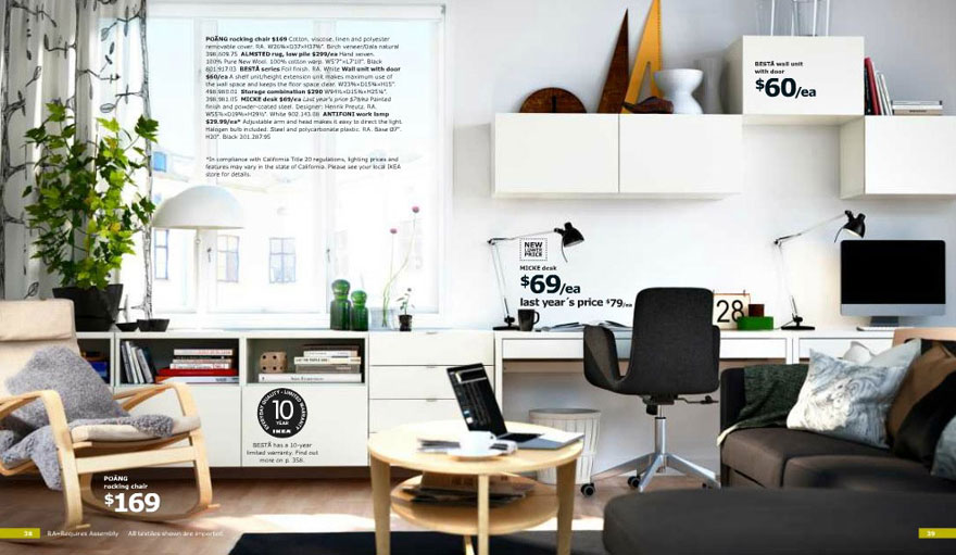 White Ikea Home Office With Planner For Mac Interior