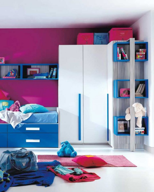 White Violet and Blue Kids Color Ideas