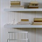 White and Cream Modern Eco Friendly Striped Wallpaper
