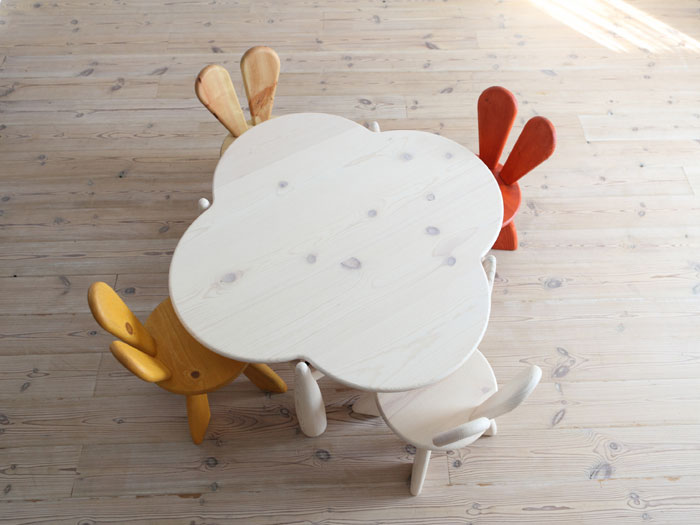 Wood funiture Sets for Kids with Pop Color