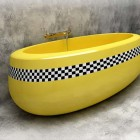 Yellow Cab Bathtub Themes Ideas
