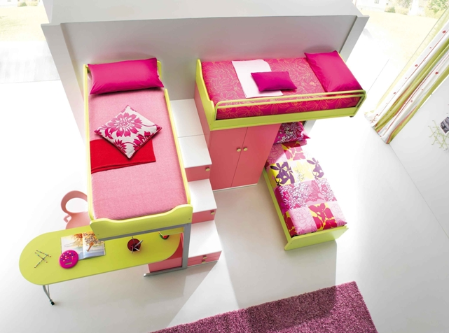 Girls Bedroom Ideas with Bunk Beds 641 x 476