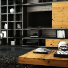Amazing Living Room With Wooden Furniture