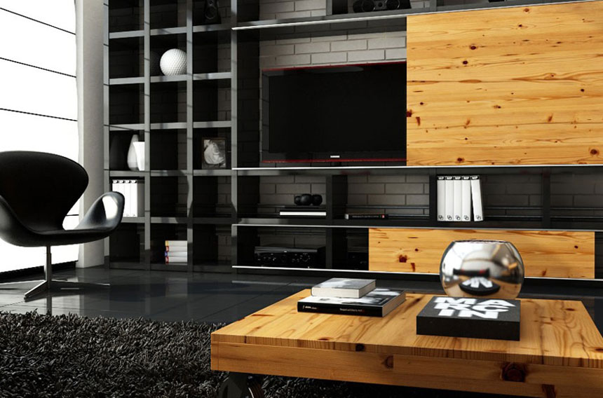 Interior design inspirations amazing living room with wooden furniture