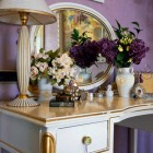 Antique Dressing Table with Flower Decoration