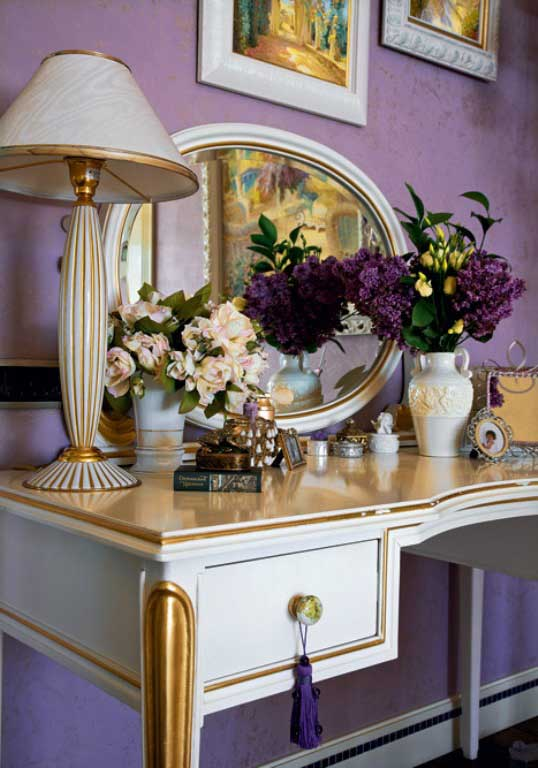 Luxury apartment with lilac and plum violet interior design design ideas interior design ideas - Decoration dressing design ...