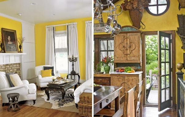 Artistic Yellow Room Inspirations