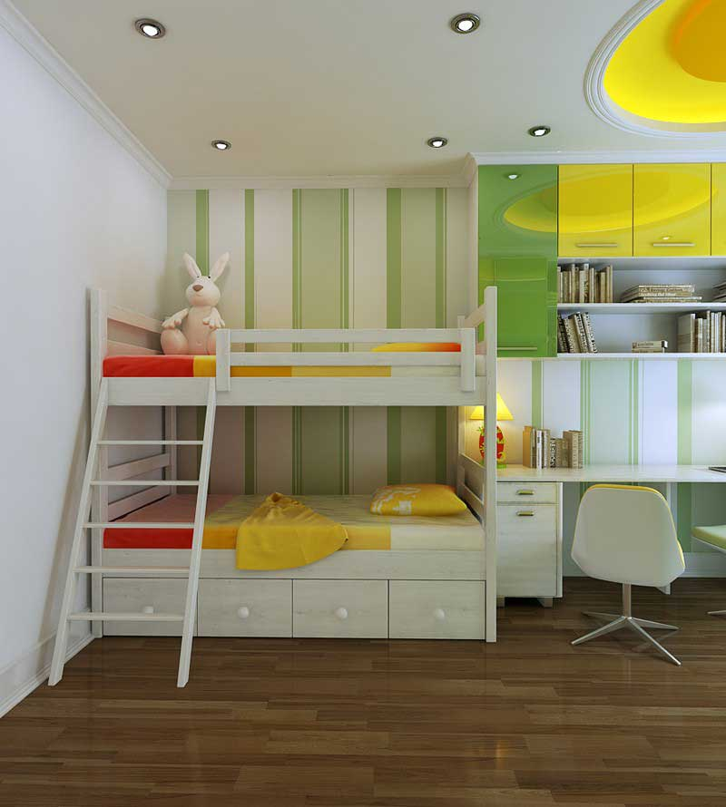 Beautiful Green And Yellow Bedroom 2012