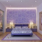 Beautiful Purple and White Bedroom Design