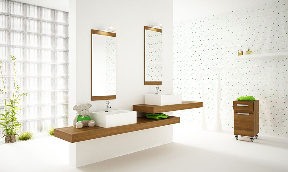Beautiful White Bathroom with Plants - Interior Design Ideas