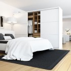 Beautiful White Bedroom with Wardrobe