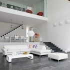 Bright White Living Room Sofa Sets With Chic Pillow Design