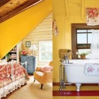 Classic Yellow Bedroom and Bathroom