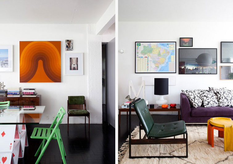 Colorful Apartment Livingroom Area