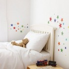 Colorful Wall Sticker Stars Kids Room Ideas