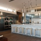 Contemporary Kitchen with White Counter Tops