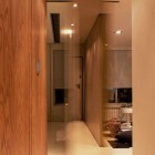 Contemporary Small House Corridor with Good Lighting