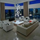 Cool White Living Room Lighting 2012