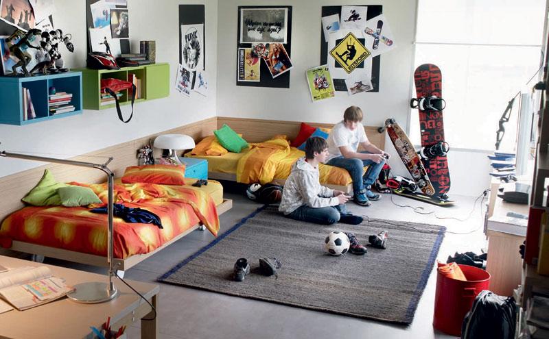 Doble bed junior bedroom for urban people interior for Junior room decor ideas