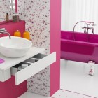 Fancy Pink and White Bathroom