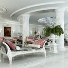 Luxury Rendering Interiorm White Living Rooom Victorian Marble