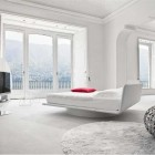 Luxury White Red Bedroom with LCD TV