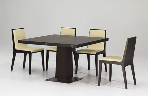 This Smart Modern Wood Dining Table