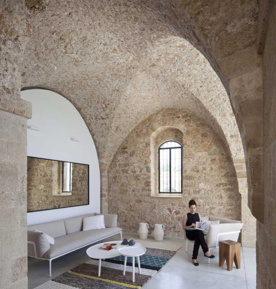 Minimalist Living Room with White Sofa