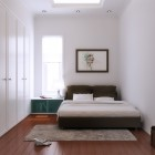 Minimalist White and Brown Beedroom Design Ideas