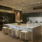 Modern Kitchen with White Island and Modern Design