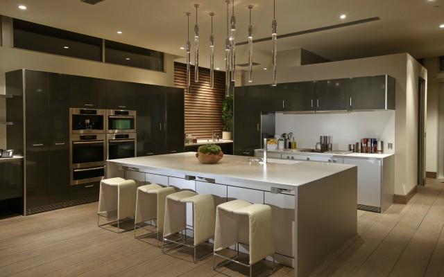 Modern Kitchen With White Island And Modern Design Interior Design Ideas