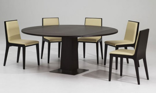 Modern Mahogany Round Extandable Dining Table