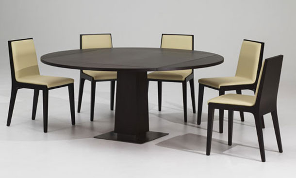 Modern Mahogany... Modern Wooden Round Dining Table Designs