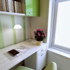 Modern Office Space Green and White