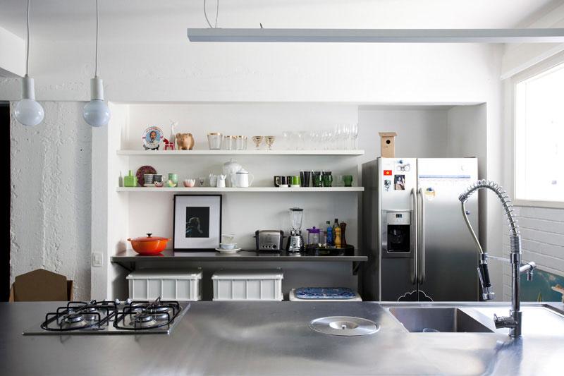 Modern Stainless Steel Apartmen Kitchen Furniture Set