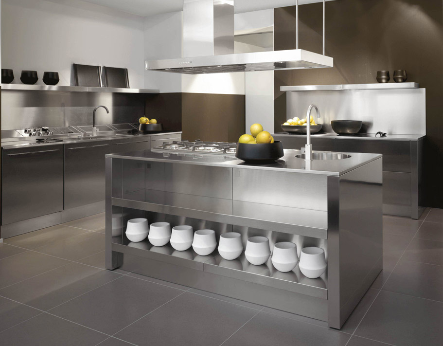 modern stainless steel kitchen designs 2012 kitchen