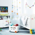 Modern White And Colorful Accents Baby Room Ideas