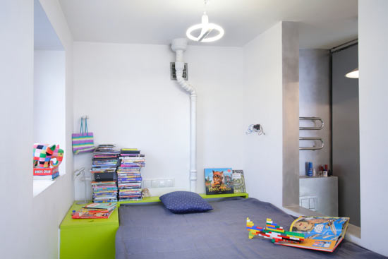 Modern and Cheerful Apartmen Bedroom Design