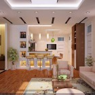 Open Living Room and Kithchen Elengant Wood Inspirations