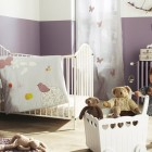 Purple and White Baby Nurseery Room and Furniture
