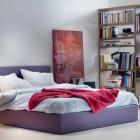 Purple and White Junior Bedroom Designs Color