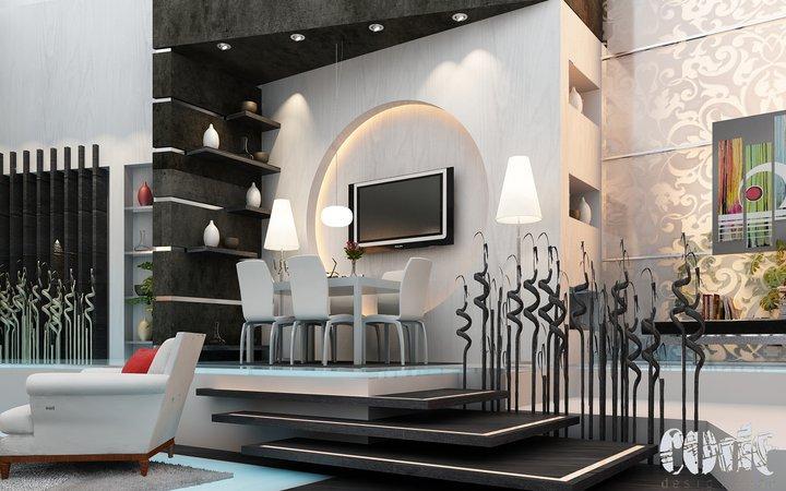 2012 new interior design rendering interior design for Best living room designs 2011