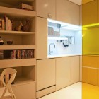 Small Space Modern Kitchen Furniture with Acrylic Wall