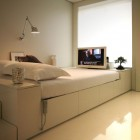 Small Space Modern White Bedroom Furniture Ideas