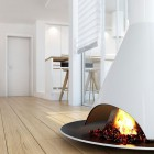 Stylish With Fireplace