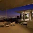Terrace Indoor Outdoor Lounge at Night
