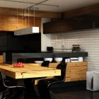 Urban Apartment Kitchen with Dining Table