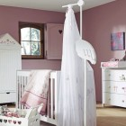 Violet and White Baby Room Ideas
